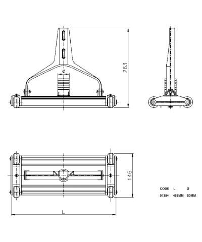 01354 Aspirateur en aluminium extrudé anodisé pour piscine-2.