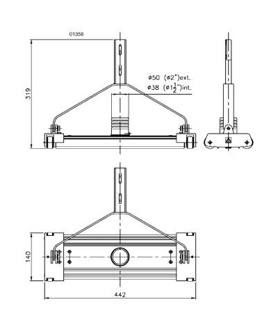 01358 Pool vacuum cleaner in brass and aluminum AstralPool - 2