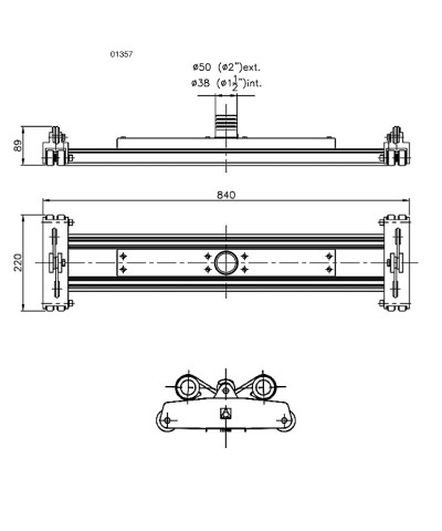 Metall Pool Schlamm Staubsauger 840mm lang mit Kabel - 01357 AstralPool - 1