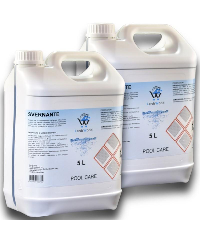 10Lt (2 x 5Lt) Svernante liquido trattamento invernale chiusura piscina-1.