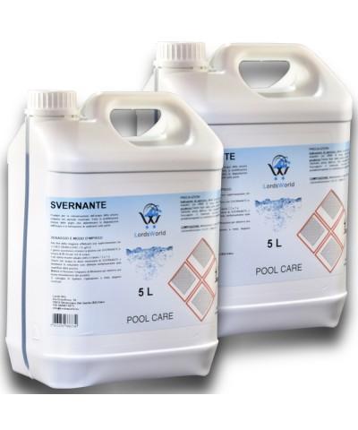 10Lt (2 x 5Lt) Svernante liquido trattamento invernale chiusura piscina