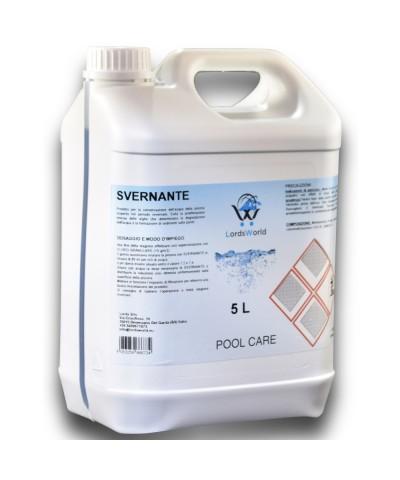 Liquide d'hivernage pour piscines - Traitement d'hiver piscines 5Lt LordsWorld Pool Care - 1