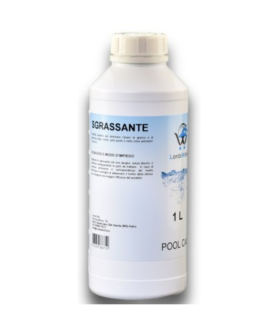 Degreaser for pools edge and area - Alkaline liquid treatment 1Lt LordsWorld Pool Care - 1