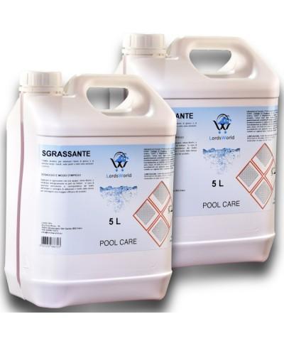 10Lt (2 x 5Lt) Desengrasante líquido alcalino para tratamiento en piscina.-1.
