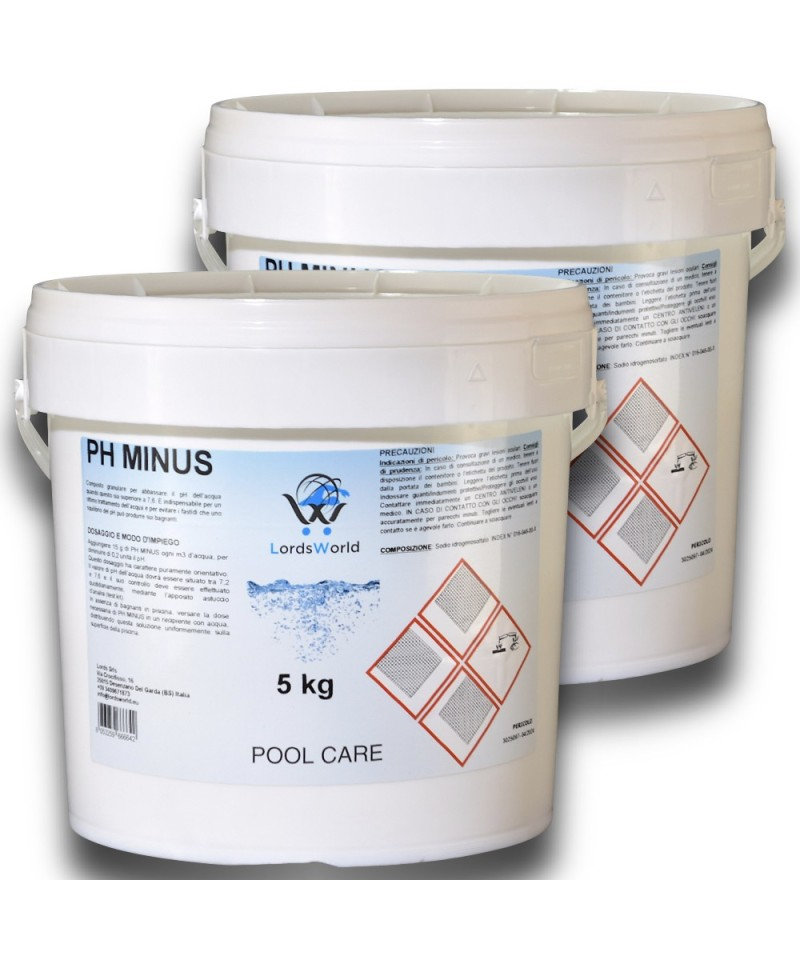 10Kg (2 x 5Kg) pH Minus reducer, pH corrector - granular LordsWorld Pool Care - 1