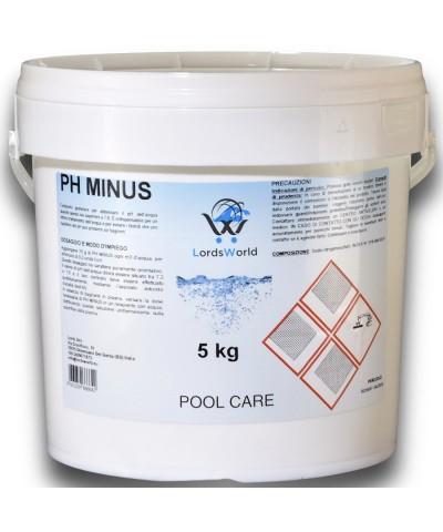 5Kg pH Minus riduttore correttore  pH- granulare