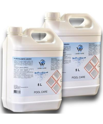 10Lt ( 2 X 5Lt) Flockungsmittel flüssig-lösungsmittel-wasser-pool-anti-trübung