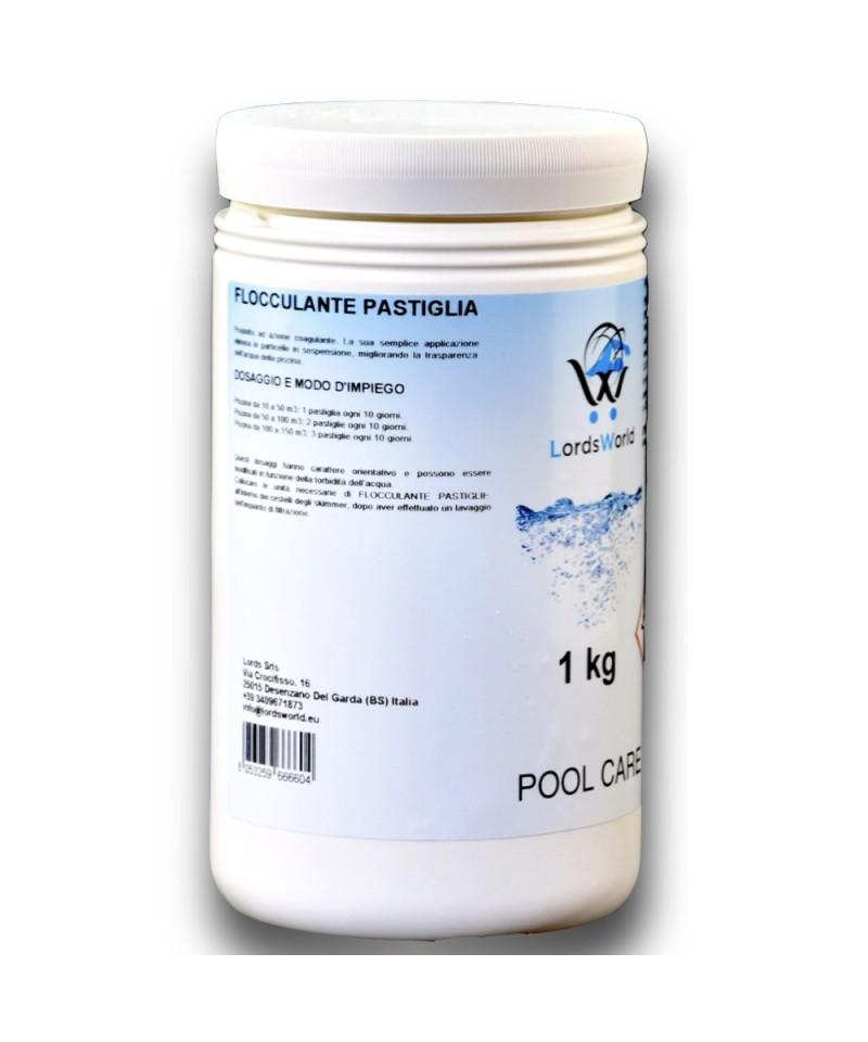 1Kg Floculantes tablet 100gr de clarificación de agua de la piscina anti-turbidez LordsWorld Pool Care - 1