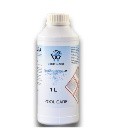 Inibitore di alghe in piscina - Alghicida liquido senza schiuma 1Lt LordsWorld Pool Care - 2