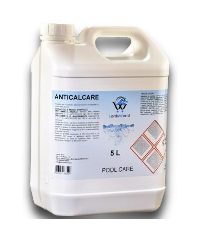 Anticalcare liquido per piscine - Previene formazione calcarea 5Lt LordsWorld Pool Care - 1