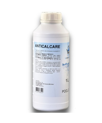 Liquid anti-limescale - prevents limescale formation for pools 1Lt LordsWorld Pool Care - 1