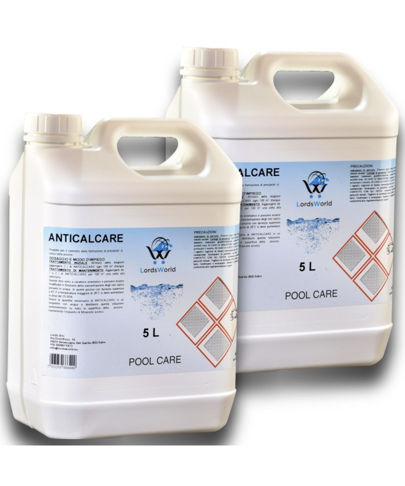 10Lt ( 2 X 5Lt) anti-calcaire liquide et évite la formation de calcaire LordsWorld Pool Care - 1