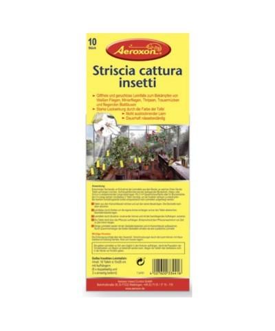 Klebestreifen zum Fangen von Insekten an Pflanzen - 12 Stück