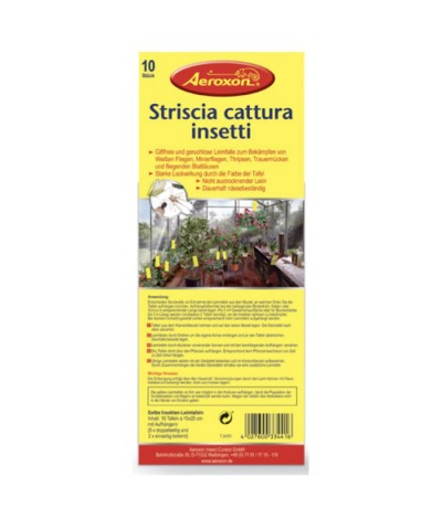 Adhesive strips to catch insect on plants - 10 Pieces AEROXON - 1