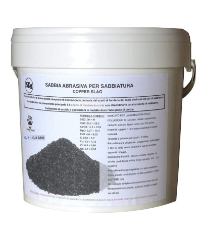 POLEN Abrasive sand for sandblasting  0,1 - 0,4Mm Copper slag 5kg LordsWorld - Loppa - 1