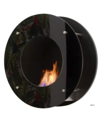 Chimenea calefactora de pared - Negra - CALATRAVA 00141 GMR TRADING - 1