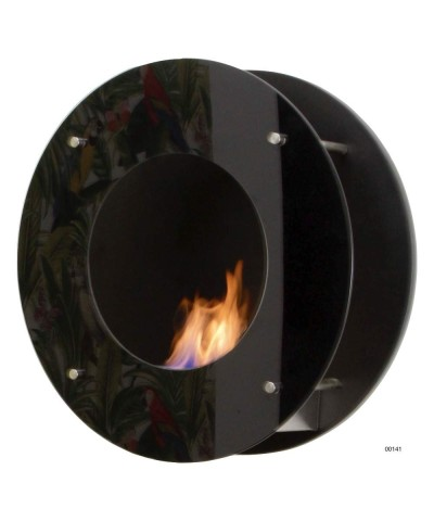 Wall-mounted heating fireplace - Black - CALATRAVA 00141 GMR TRADING - 1