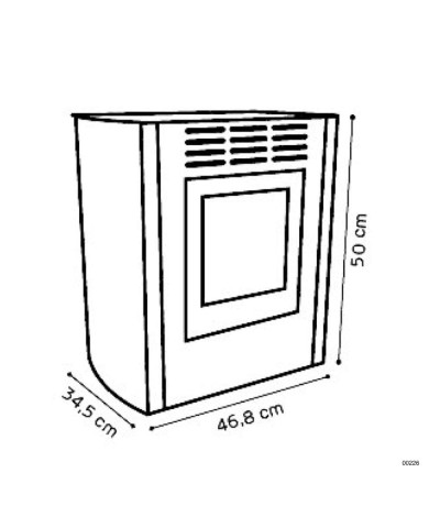 Calefacción de hogar - Estufas estáticas - blanco - Melody - 00226 GMR TRADING - 2