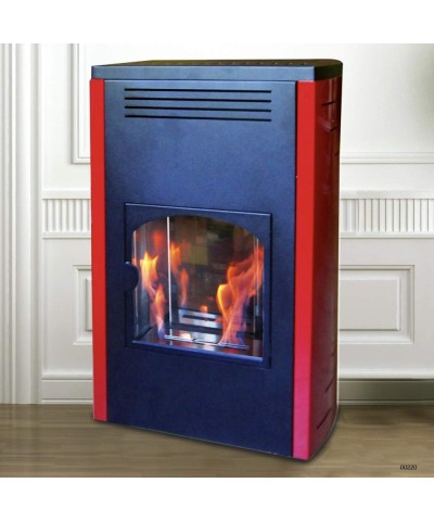 Home heating - Static bio-stoves - burgundy - Melody - 00220 GMR TRADING - 1