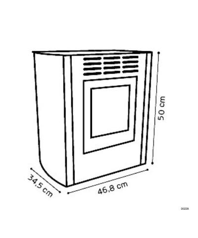 00228 Riscaldamento - Bio-stufe ventilata bordeaux - Melodia junior GMR TRADING - 2