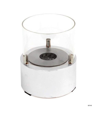 00142 Table heater - design fireplace - White - Giotto Candle GMR TRADING - 1