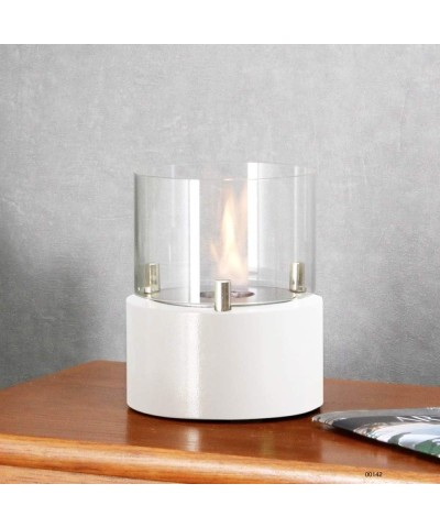 Home table heating - fireplace - White - Giotto candle - 00142 GMR TRADING - 2