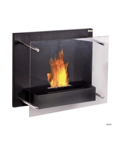 Wall-mounted heating fireplace - Black - Fuchs Junior - 00132 GMR TRADING - 1