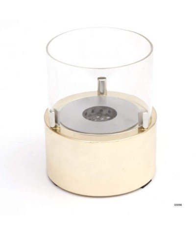 00096 Table heater - design fireplace - Gold - Giotto Candle GMR TRADING - 2