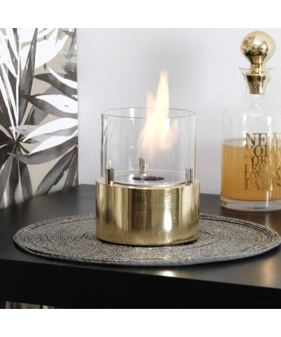 00096 Table heater - design fireplace - Gold - Giotto Candle GMR TRADING - 1