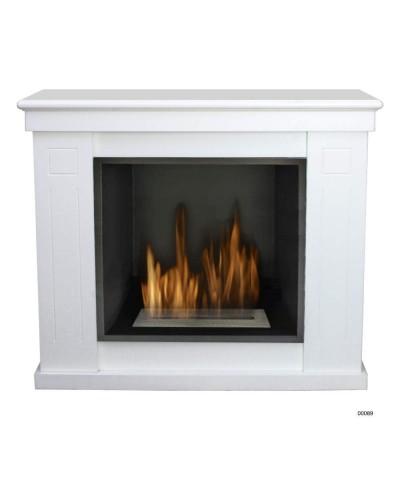 Calefacción del hogar - chimenea ecológica Raffaello - blanco - 00089