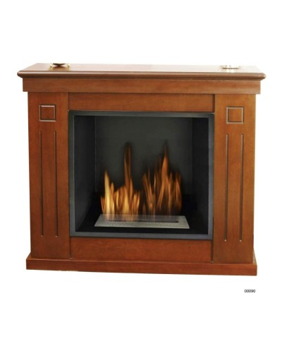 00090 Heater - Ecological fireplace Raphael - Walnut GMR TRADING - 1