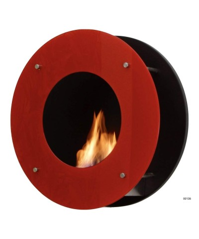 Wall-mounted heating fireplace - Red - Calatrava - 00135 GMR TRADING - 1