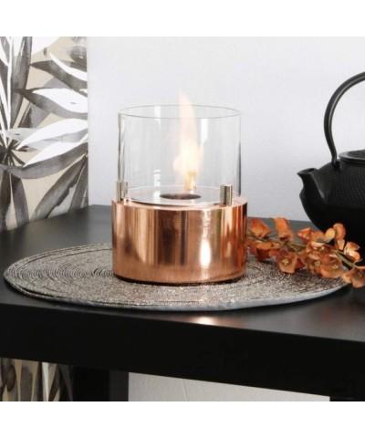 Chauffage de table maison - cheminée - Rosé - Bougie Giotto - 00097 GMR TRADING - 1