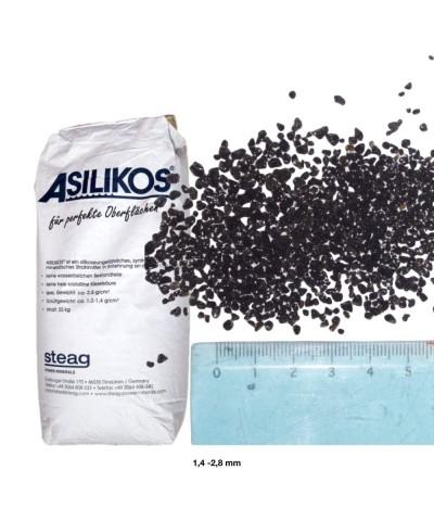 Arena abrasiva para arenado 1,4 - 2,8Mm ASILIKOS Escoria de cobre 25Kg Asilikos - 1