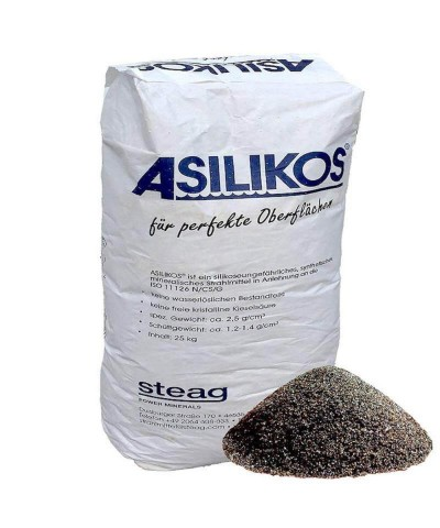 Abrasive sand for sandblasting 0,2 - 1,0Mm ASILIKOS Copper slag 1000Kg Asilikos - 3