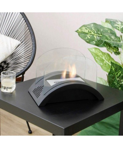 Table heating - Bioethanol fireplace - Black Rocky fireplace 00144 GMR TRADING - 1
