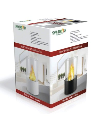 Table heating - Bioethanol Fireplace - Giotto White Fireplace 00126 GMR TRADING - 3
