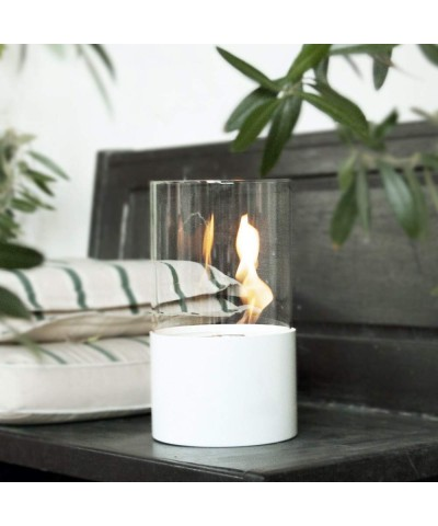 Table heating - Bioethanol Fireplace - Giotto White Fireplace 00126 GMR TRADING - 2