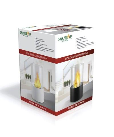 Calefacción de mesa - Chimenea de bioetanol - Chimenea Giotto Nero 00122 GMR TRADING - 2