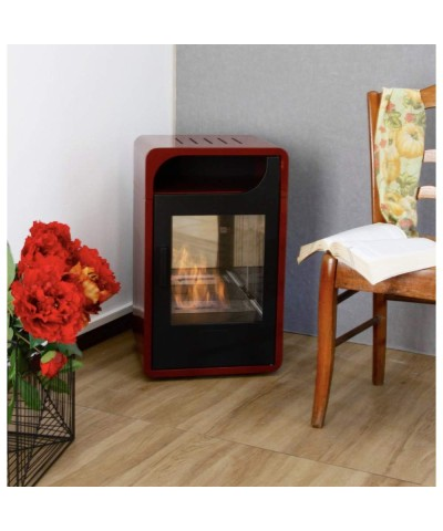 Domestic heating - Static Bio-stove - FIAMMETTA bordeaux - 00250 GMR TRADING - 1