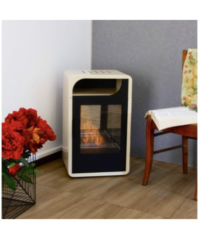 Domestic heating - Static Bio-stove - FIAMMETTA beige - 00251 GMR TRADING - 1