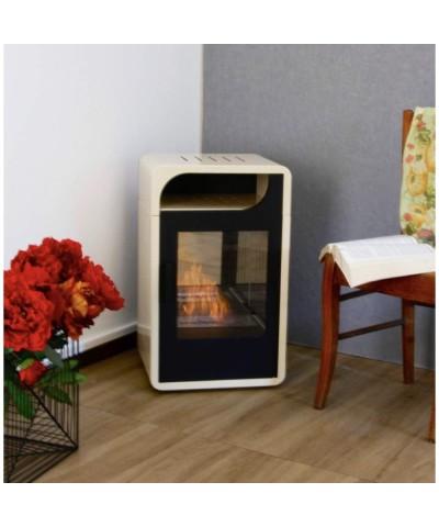 Domestic heating - Static Bio-stove - FIAMMETTA beige - 00251 GMR TRADING - 1