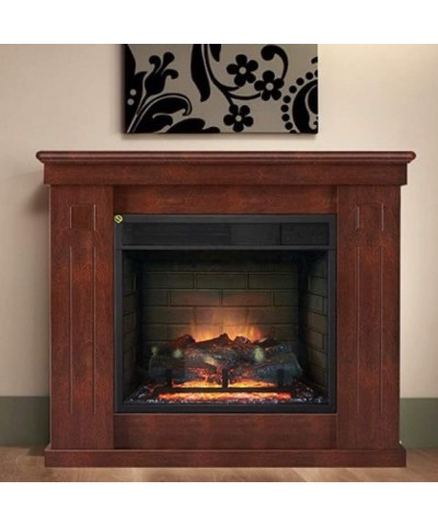 Heating - Electric Fireplace - Chiara Slim Walnut 00187 GMR TRADING - 1