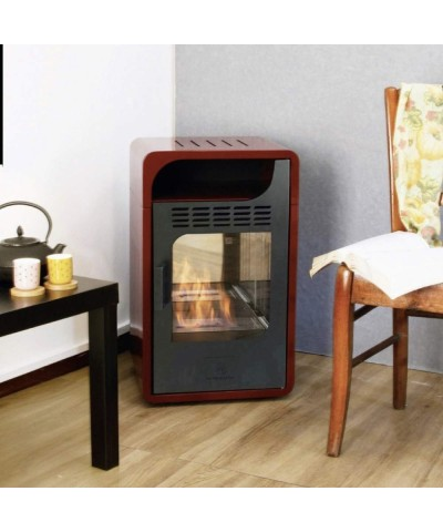 Heating - Ventilated Bio-stove - Fiammetta Junior Bordeaux 00252 GMR TRADING - 1