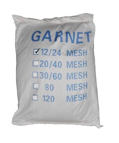 Sabbia abrasiva Garnet indiano per sabbiatura 12-24 Mesh -  25Kg Garnet GMA - 1