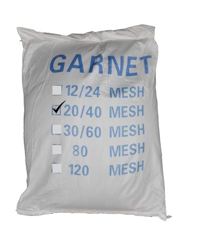 Indian Garnet 20-40 Mesh - Sable abrasif pour sablage 25Kg Garnet GMA - 1