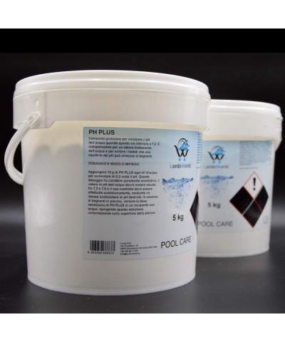 pH plus swimming pool water pH increaser - granular pH corrector 10Kg LordsWorld Pool Care - 4
