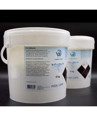 pH minus swimming pool water pH reducer - granular pH corrector 10Kg LordsWorld Pool Care - 1