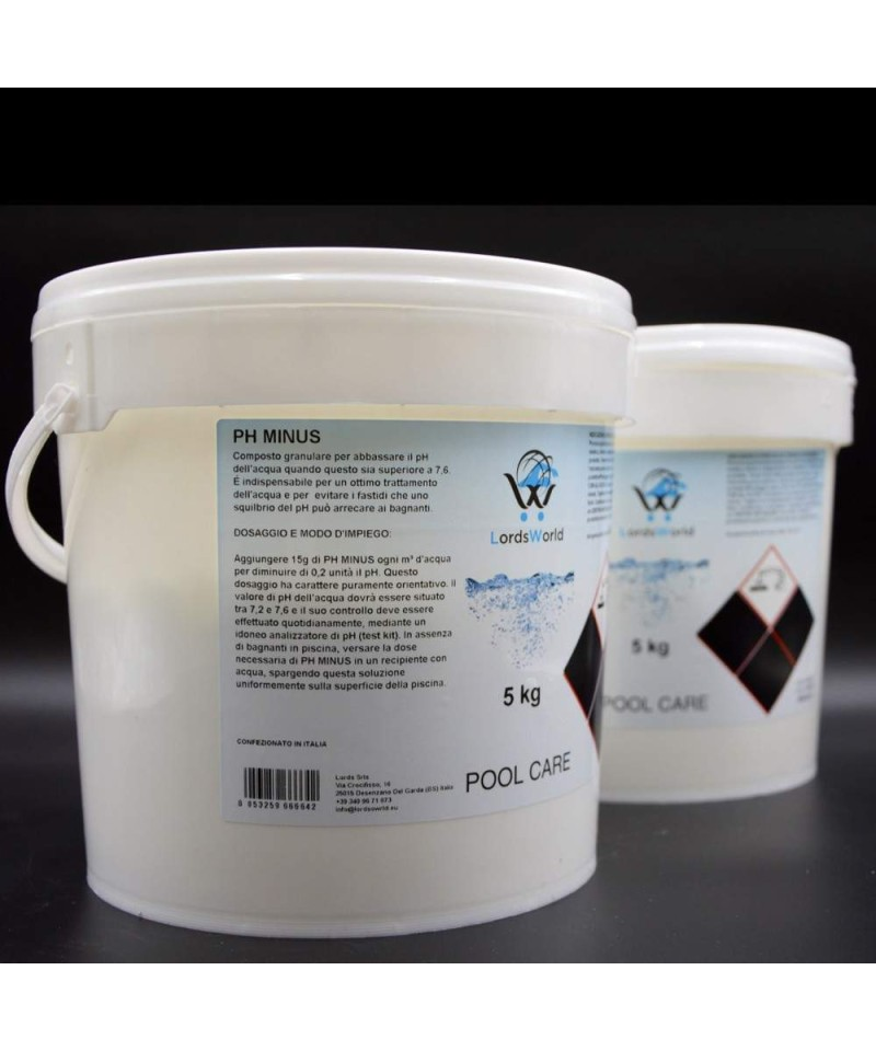 pH minus acqua piscina - riduttore pH - correttore pH granulare 10Kg LordsWorld Pool Care - 1