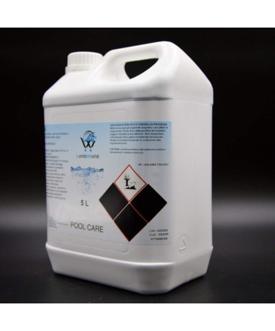 Algae inhibitor in swimming pool - Foam-free liquid algicide 5Lt LordsWorld Pool Care - 3